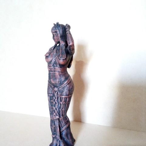 IMG_20180803_164530.jpg Download STL file Egipcia Diosa Bast, Bast goddess  • 3D printable model, abauerenator
