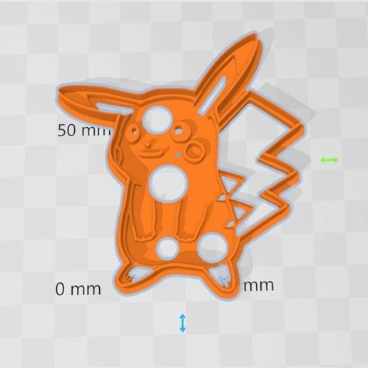 Télécharger plan imprimante 3D Coupe-biscuits Pikachu, abauerenator