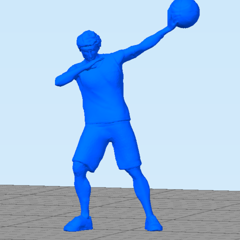 basquetballplayer.png Download STL file Basquet Ball player Posed • 3D print model, abauerenator