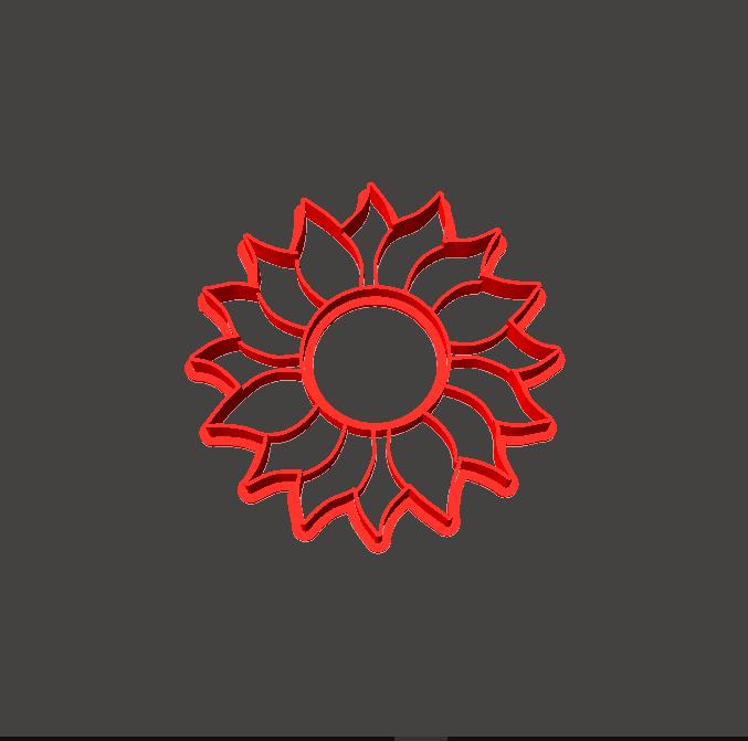 Cortante Girasol.png Download STL file Sunflower Cookie Cutter, Sunflower cookie cutter • Model to 3D print, abauerenator