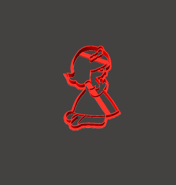 comunion.png Download STL file Communion girl praying cookie-cutter • Object to 3D print, abauerenator