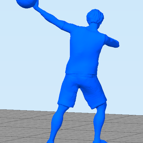 basquetballplayer3.png Download STL file Basquet Ball player Posed • 3D print model, abauerenator