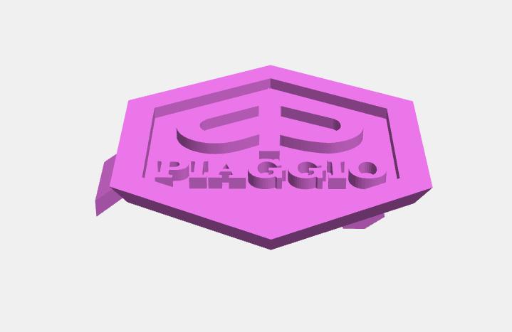 Piaggio2.png Download STL file Piaggio Vespa Emblems • 3D printable design, abauerenator