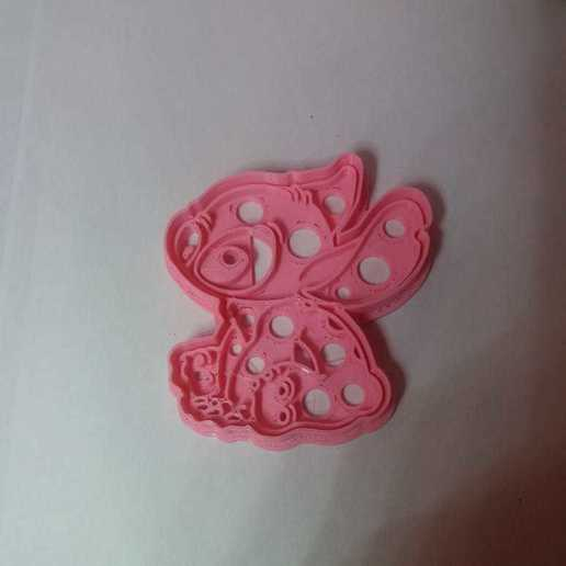 Download 3D printing designs Stitch cookies cutter, abauerenator