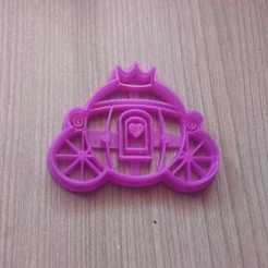 3D print files Biscuit Cutting Princess Carriage, abauerenator