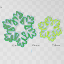 copos de nieve.png Download STL file  snowflakes cookies cutters, cortantes de galletas copos de nieve • 3D printable template, abauerenator