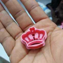 Télécharger fichier 3D coupe-biscuits couronne et fleurs, abauerenator