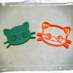stl Cortante de Galletas Gato, cat cookies cutter, abauerenator