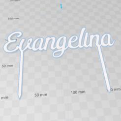 topperTortalaevangelina.png Download STL file Cake Topper, topper Torta Evangelina • Model to 3D print, abauerenator