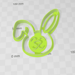 Download 3D model Rabbit face cookies cutter cookie cutter, abauerenator