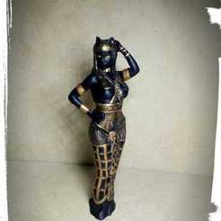 3D printing model Egipcia Diosa Bast, Bast goddess , abauerenator