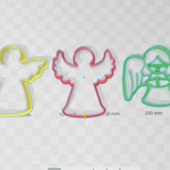 cortante_galletas_angelesx3.png Download STL file Angels cookie cutter • 3D printable model, abauerenator