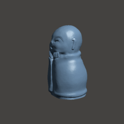3d printer designs Jizo Statue - hands to face, abauerenator