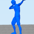 basquetballplayer2.png Download STL file Basquet Ball player Posed • 3D print model, abauerenator