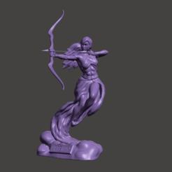 Artemisa1.png Download STL file Goddess Artemis Statue • 3D printing template, abauerenator