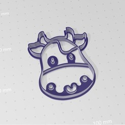 vacalola.jpg Download STL file Cow Lola Cookies Cutter • 3D printable template, abauerenator