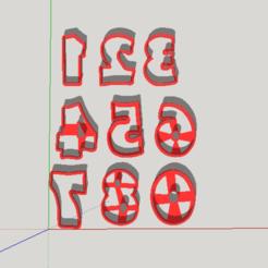 Download 3D printer designs Numeros Cookies Cutters - numbers, abauerenator