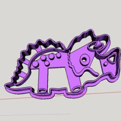 Télécharger fichier imprimante 3D Triceratops dino cutter, abauerenator
