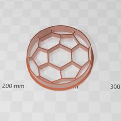 pelota futbol.png Download STL file Soccer ball cookie cutter • 3D printer template, abauerenator