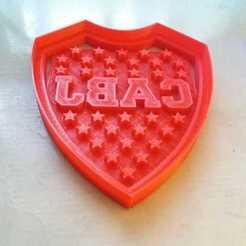 Télécharger fichier imprimante 3D Armoiries de la CABJ Boca Juniors coupeur de biscuits Boca Juniors, abauerenator