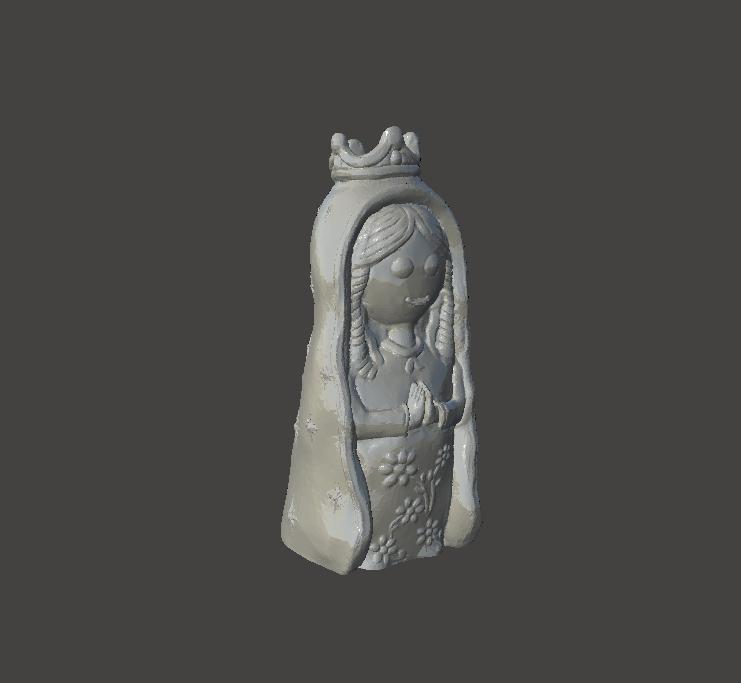 porfis Plis2.png Download STL file Virgen Porfis, Virgencita Plis • 3D print template, abauerenator