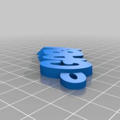 namekeyringv1-4_20151125-3515-c6bhbt-0.png Télécharger fichier STL gratuit My Customized iamburny's Text - Porte-clé nom / Porte-clé gaby • Modèle pour impression 3D, abauerenator
