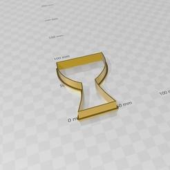 caliz.jpg Download STL file Caliz, cup, communion cookies cutters • 3D printer template, abauerenator