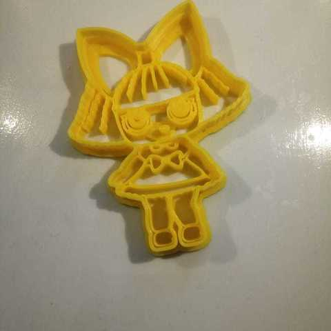 Lol Surprise Doll cookies cutter