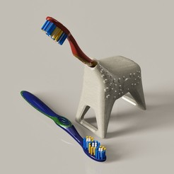 Free Toothbrush holder (Giraffe) STL file, pipeaguirres