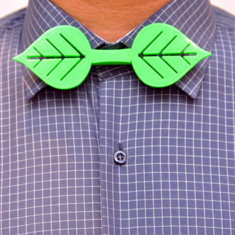 Free STL Leafy Bow Tie, 102Creations