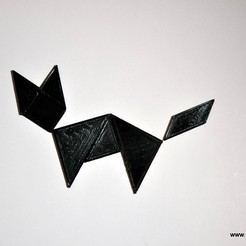 Download free 3D printing templates Tangram Puzzle, 102Creations