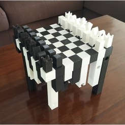 3d print files Hollow3 chessboard, H33ro