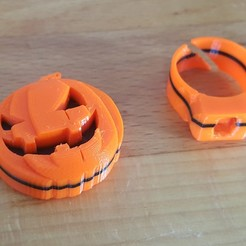 Free 3D printer files Pumpkin support for modular ring, H33ro