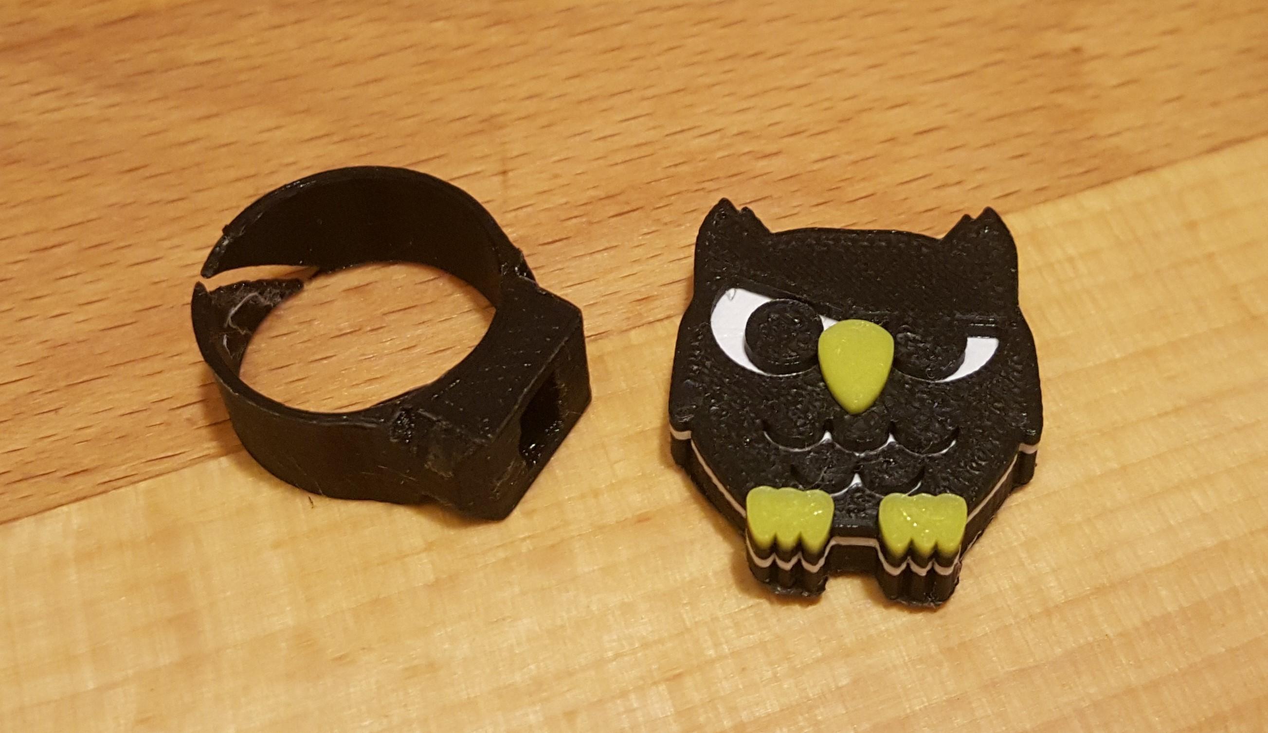 20181014_193348.jpg Download free STL file Owl support for modular ring • 3D printer design, H33ro