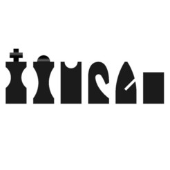 Free Hollow3 chess set 3D printer file, H33ro