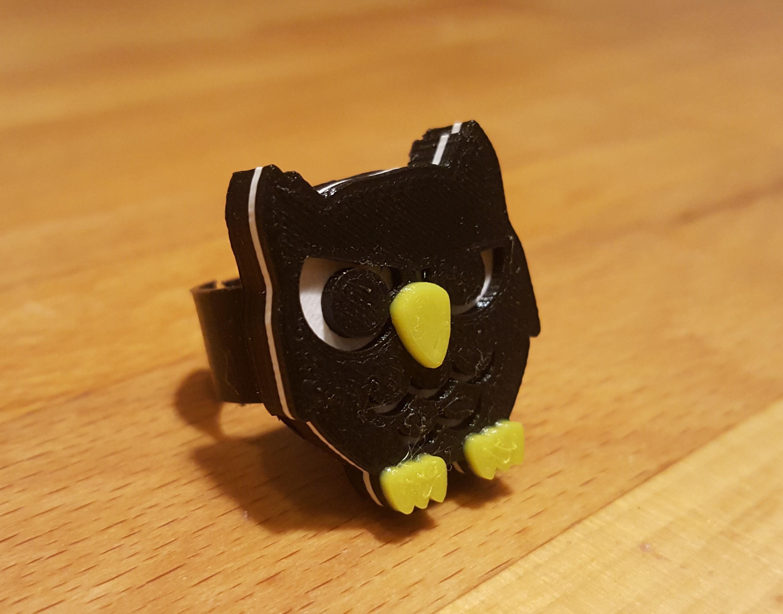 20181014_193315.jpg Download free STL file Owl support for modular ring • 3D printer design, H33ro