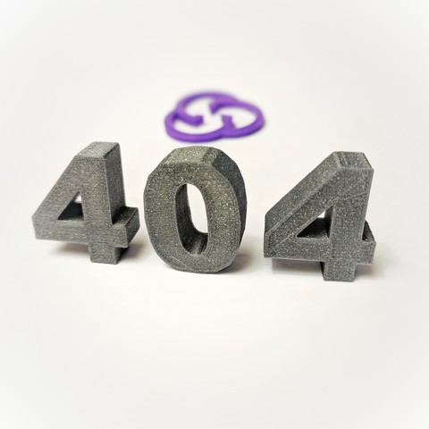 Free 3D printer model 404 page not found, sunny