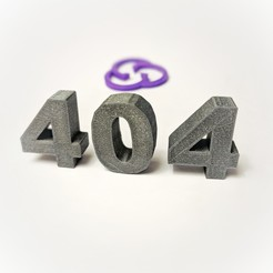 Download free 3D printing files 404 page not found, sunny
