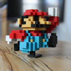 Download free STL file 8-Bit Classic Mario • 3D printing model, jakejake