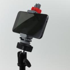 Universal Phone Tripod Mount 3D printing3.png Télécharger fichier STL gratuit Trépied pour téléphone universel • Plan pour imprimante 3D, jakejake