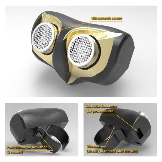 Download free 3D print files Owl ring (Assistant for sight-impairedpeople), arkhauss29