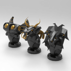 Download free 3D printing files Ms. Owl, Mr. Lion, and Mr. Bull, arkhauss29