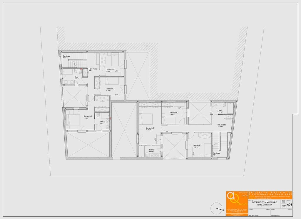 6b98fd3cb23a58600de83255f3f9b384_display_large.jpg Download free STL file 2 VIVIENDAS ADOSADAS • 3D printer template, chocarrat