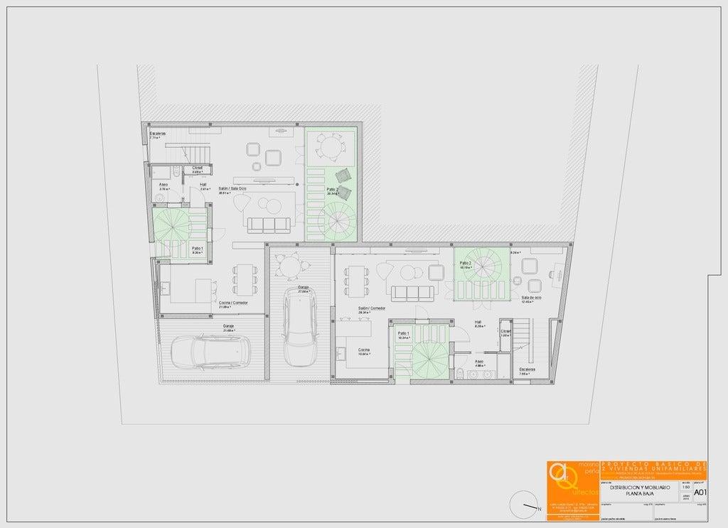 e7d8efc9b83dadd4041e0e0a162e40a8_display_large.jpg Download free STL file 2 VIVIENDAS ADOSADAS • 3D printer template, chocarrat