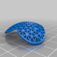 Télécharger fichier STL gratuit [Art mathématique] Boucles d'oreilles en forme de coeur à triangulation retardée • Objet pour impression 3D, Kay