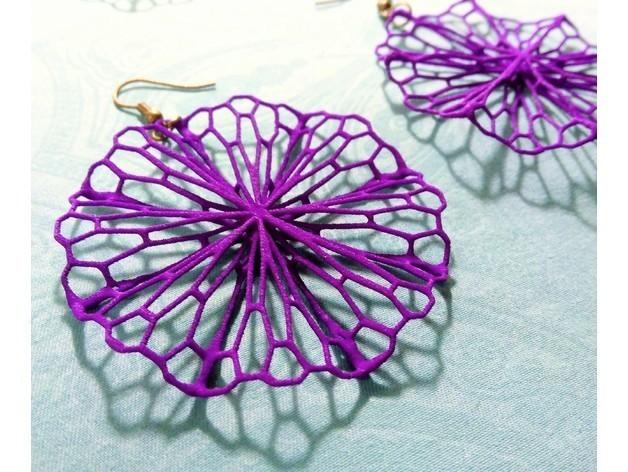 15fd696aae1d6e20e5a26173294256dd_preview_featured.jpg Télécharger fichier STL gratuit Art mathématique : Cercle froissé (boucles d'oreilles) • Design pour imprimante 3D, Kay