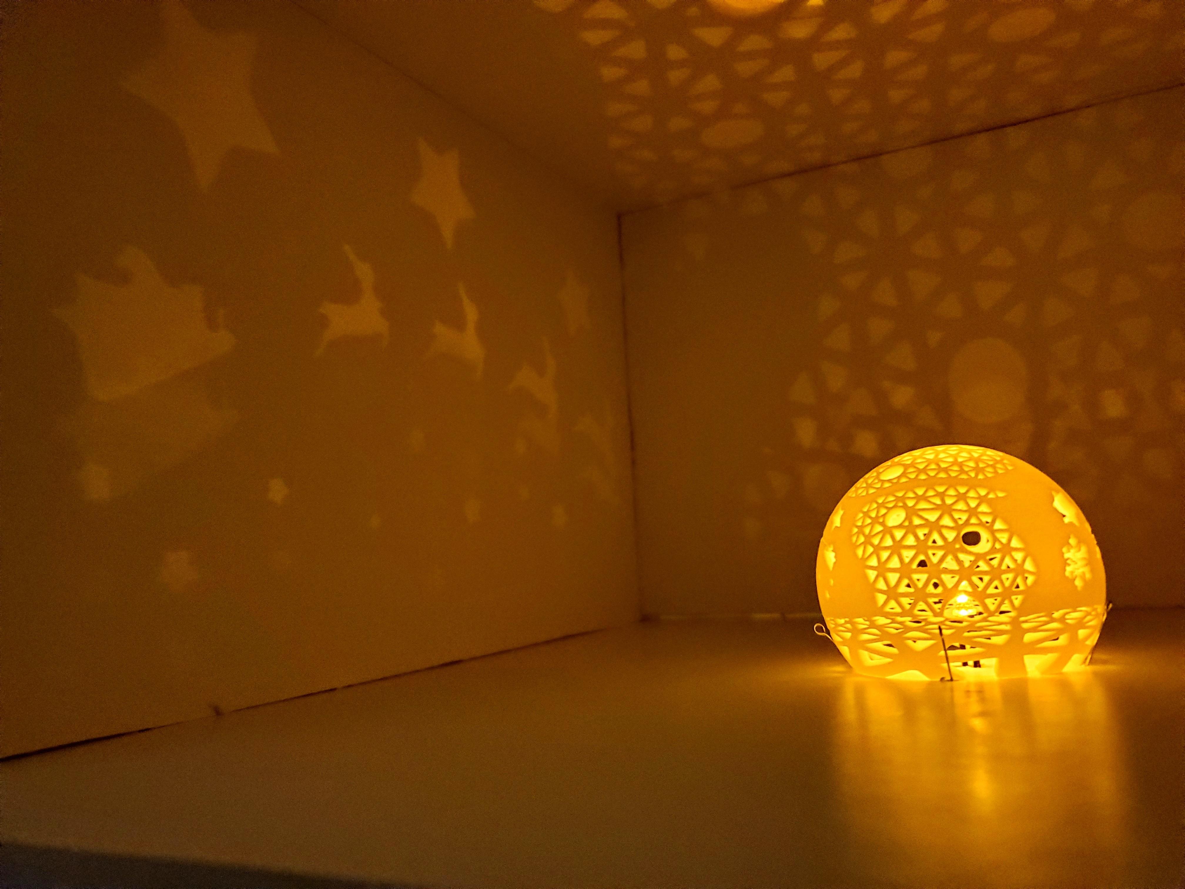 A_world_of_unbounded_dreams2.jpg Télécharger fichier STL gratuit Série de lampes perforées • Objet pour impression 3D, Kay