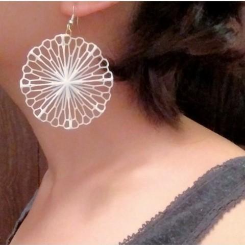 f12f843f9db559efcc49b7da8304b54c_preview_featured.jpg Télécharger fichier STL gratuit Art mathématique : Cercle froissé (boucles d'oreilles) • Design pour imprimante 3D, Kay