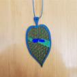 leafFront3.PNG Télécharger fichier STL gratuit Marque-page avec Triangulation Delaunay • Plan pour impression 3D, Kay