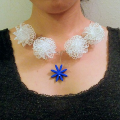 Free 3d printer files Mathematical Art: Flower Ball (Necklace), Kay